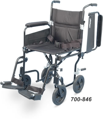 Airgo® Comfort-Plus Lightweight Transport Chair, plaid