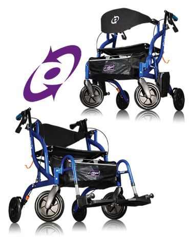 Airgo® Fusion™  Side-Folding Rollator & Transport Chair